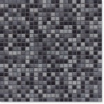 Mosaik Jasba Natural Glamour Secura 8357H anthrazit-mix 1x1cm